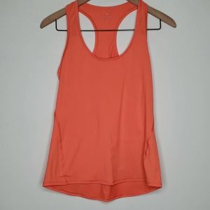 Athleta Orange Racerback Soft Tank Top sz S